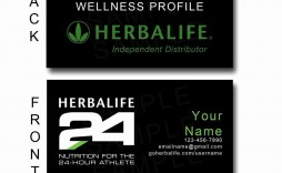 008 Frightening Herbalife Busines Card Template Inspiration  Download Free