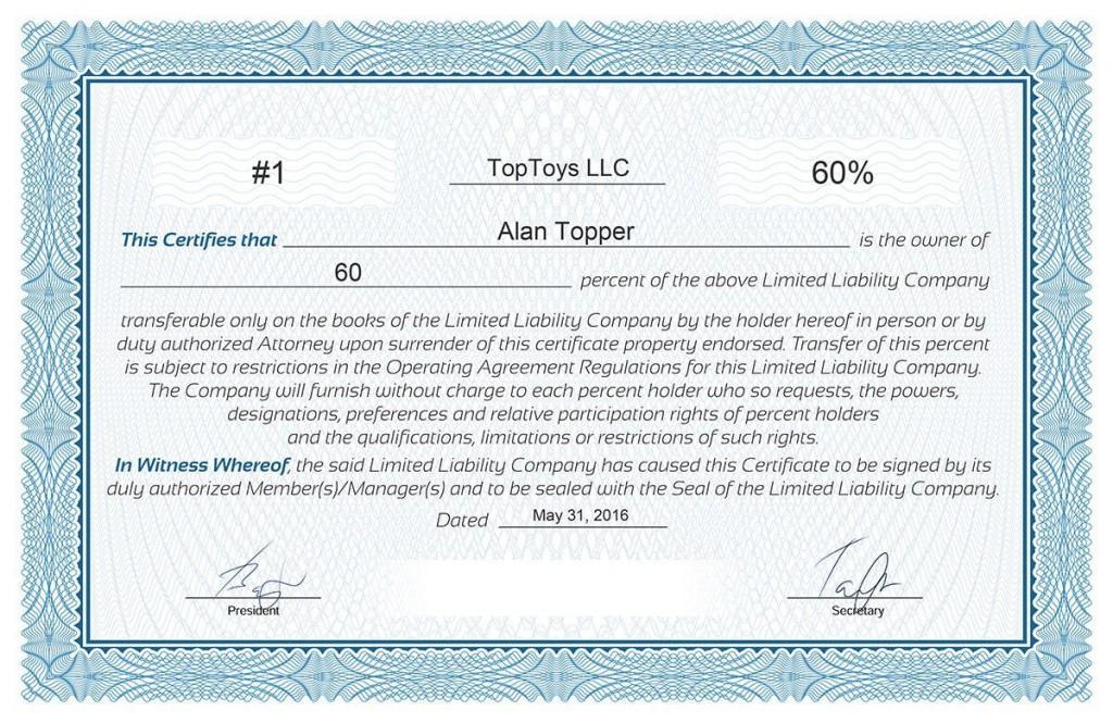 008 Frightening Llc Membership Certificate Template Photo  Interest Free MemberLarge
