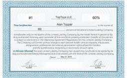 008 Frightening Llc Membership Certificate Template Photo  Interest Free Member