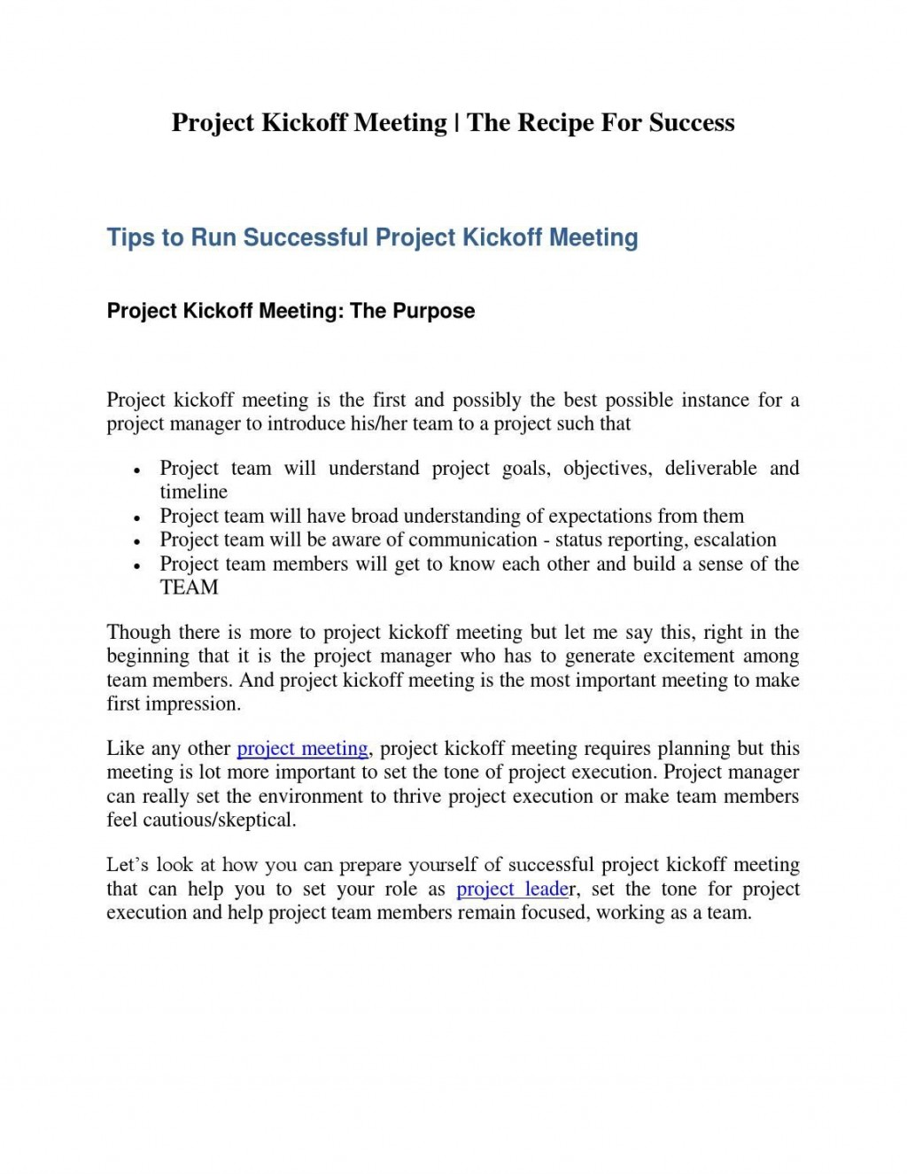 008 Frightening Project Kickoff Meeting Agenda Template High Def  ManagementLarge