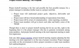 008 Frightening Project Kickoff Meeting Agenda Template High Def  Management