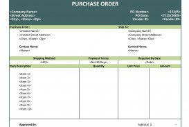 008 Frightening Purchase Order Excel Template Highest Clarity  Vba Download Free