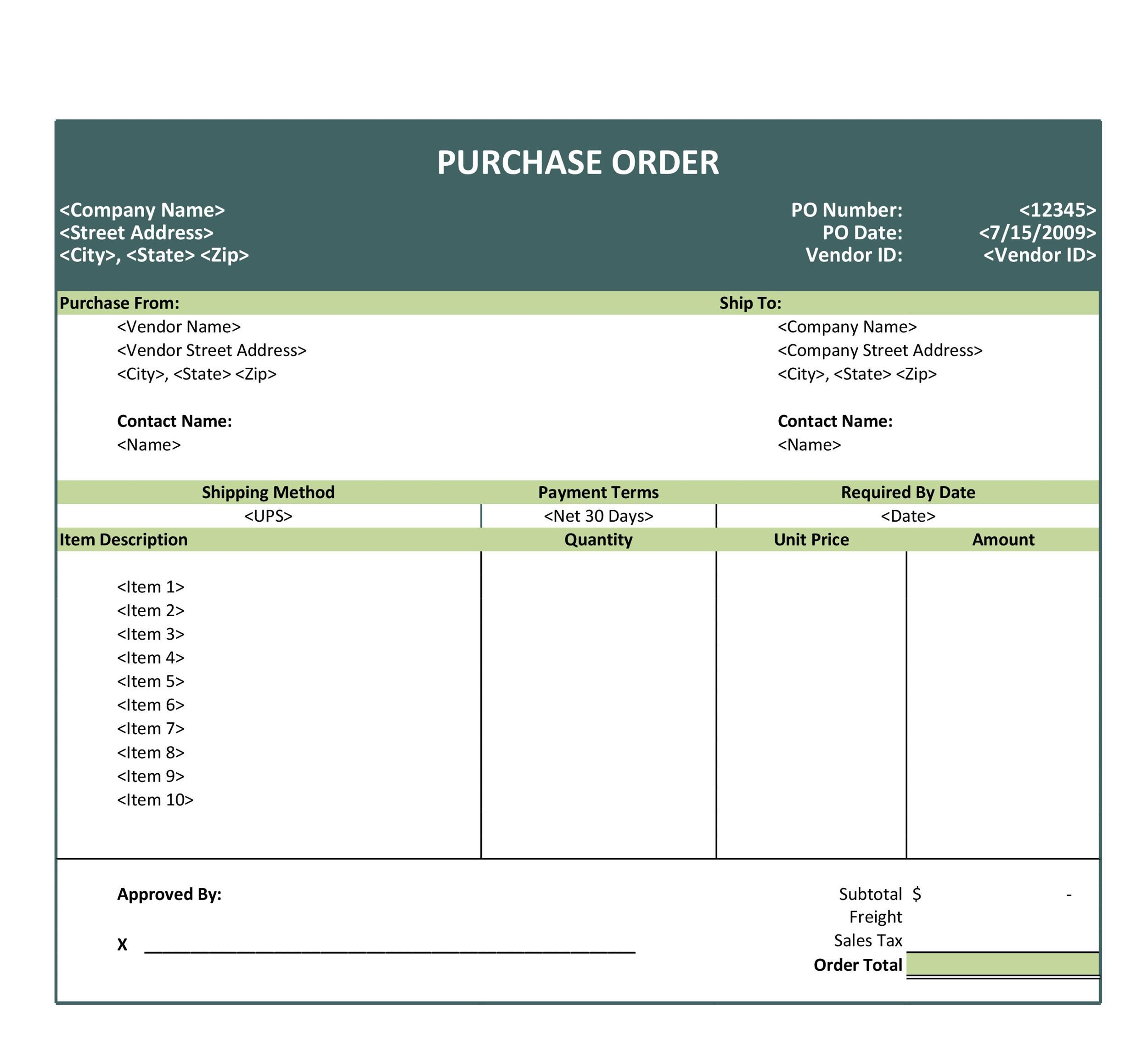008 Frightening Purchase Order Excel Template Highest Clarity  Vba Download FreeFull