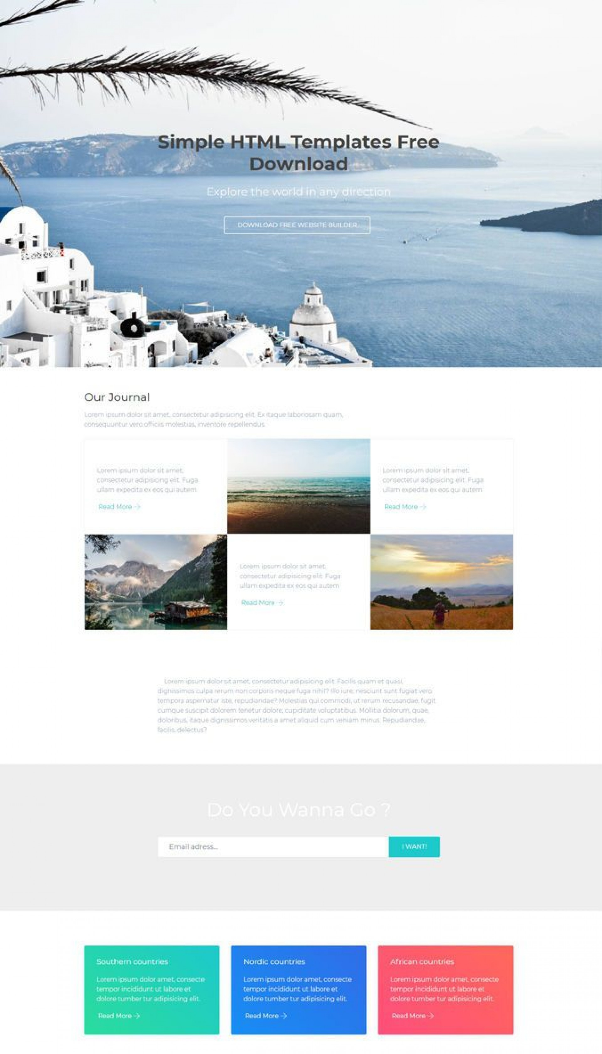 008 Frightening Simple One Page Website Template Free Download Example  Html With Cs1920