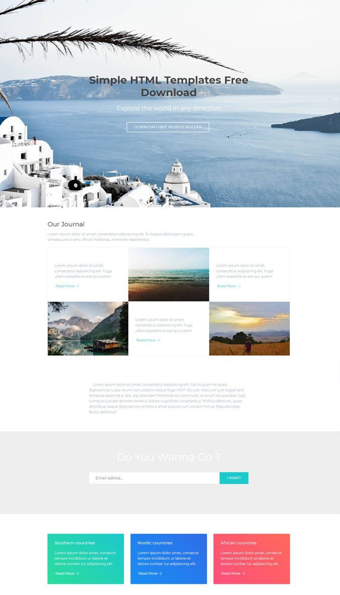 008 Frightening Simple One Page Website Template Free Download Example  Html With CsFull
