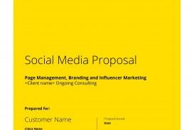 008 Frightening Social Media Proposal Template 2019 Inspiration