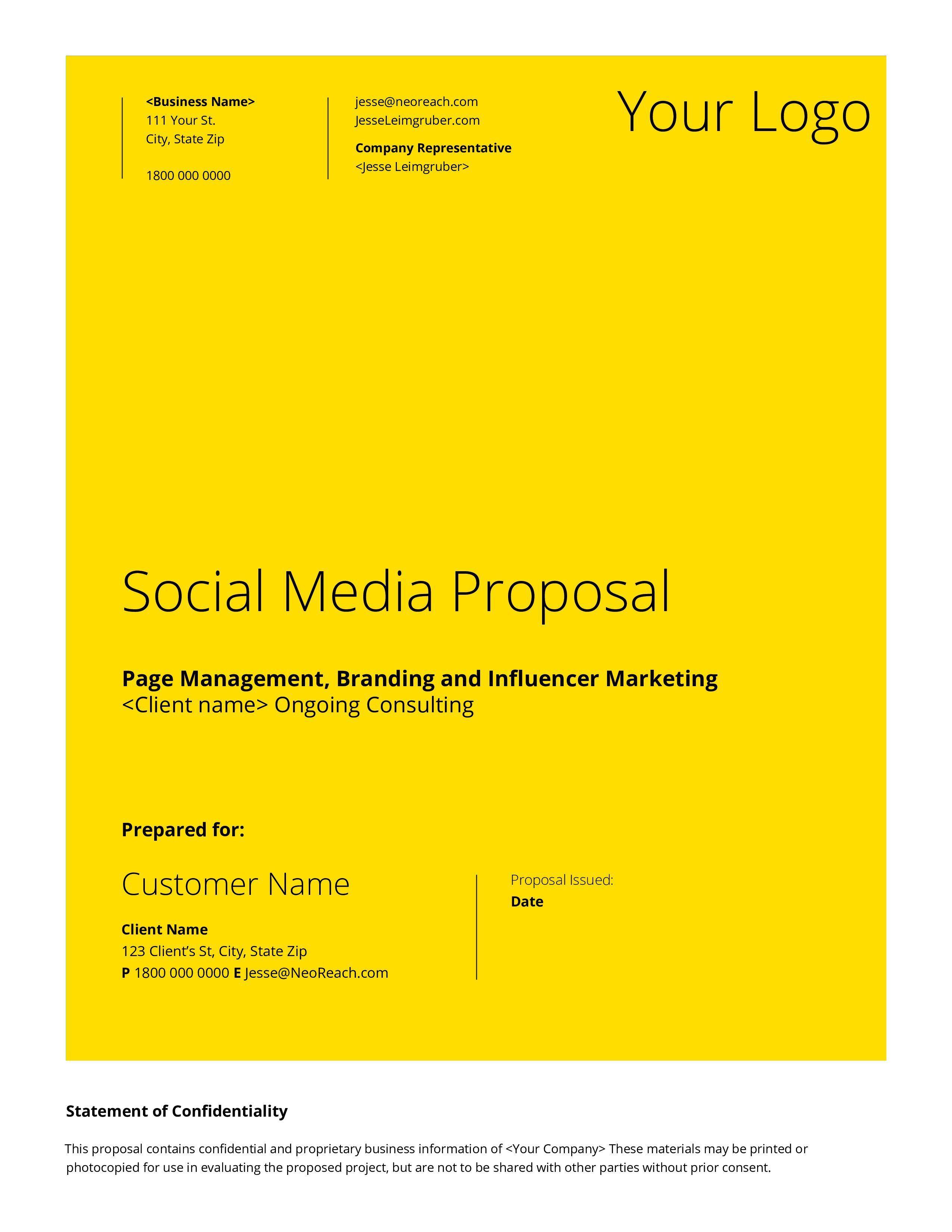 008 Frightening Social Media Proposal Template 2019 Inspiration Full