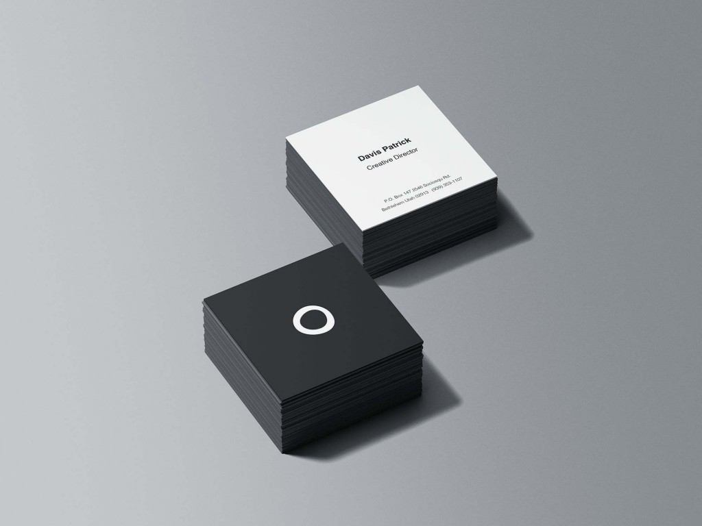 008 Frightening Square Busines Card Template Concept  Free Download PhotoshopLarge