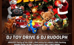 008 Frightening Toy Drive Flyer Template Highest Clarity  Holiday Download Free Word
