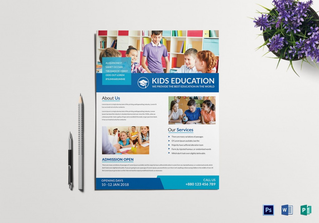 008 Frightening Tutoring Flyer Template Free High Resolution  WordLarge