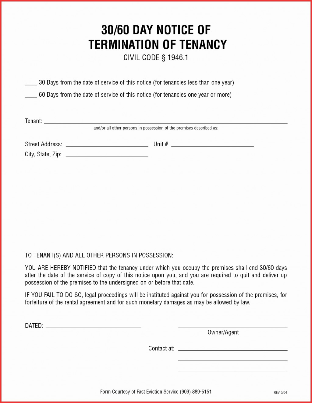 008 Imposing 30 Day Eviction Notice Template Inspiration  Pdf FormLarge