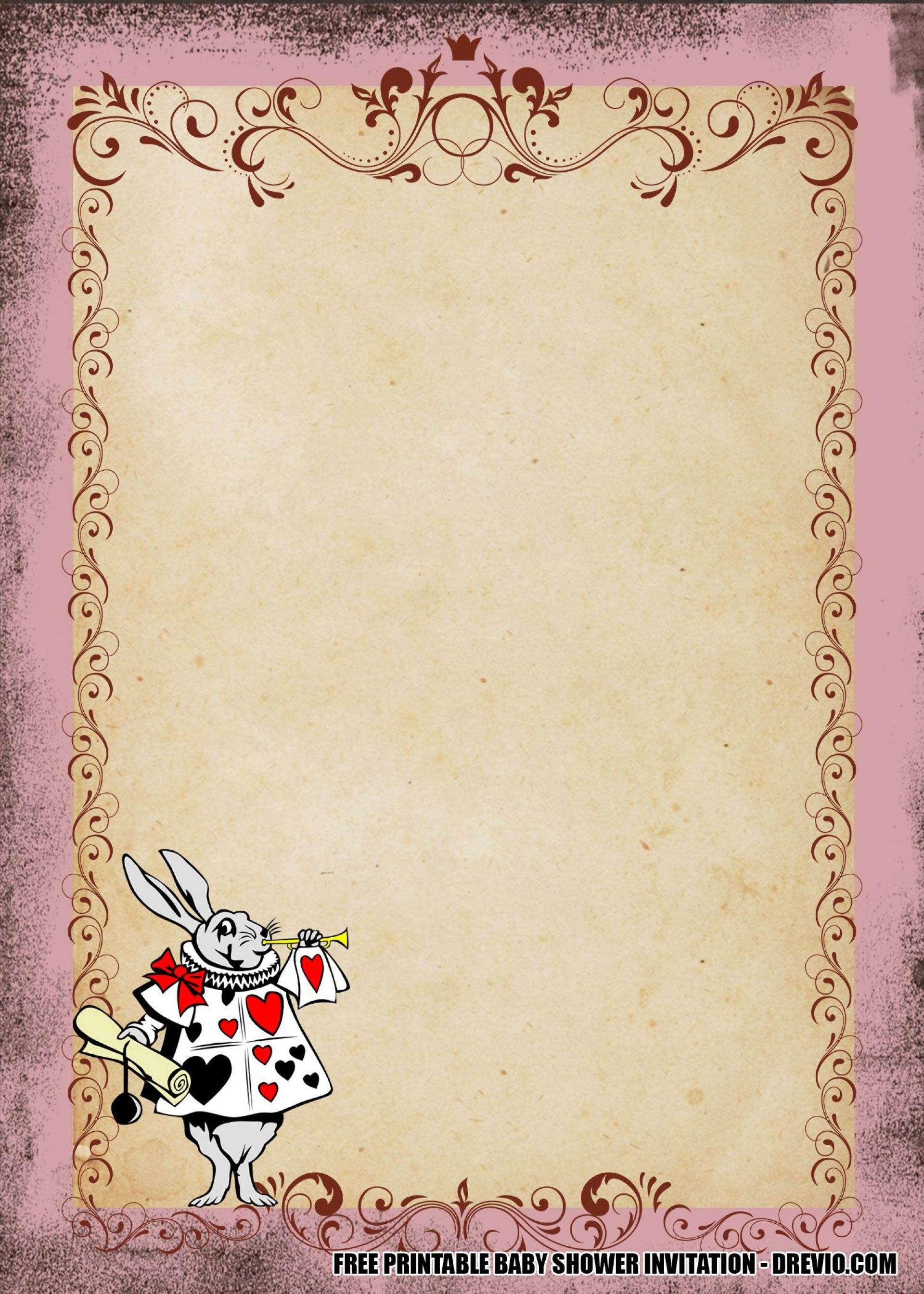 008 Imposing Alice In Wonderland Invitation Template High Resolution  Templates Wedding Birthday Free Tea Party1920