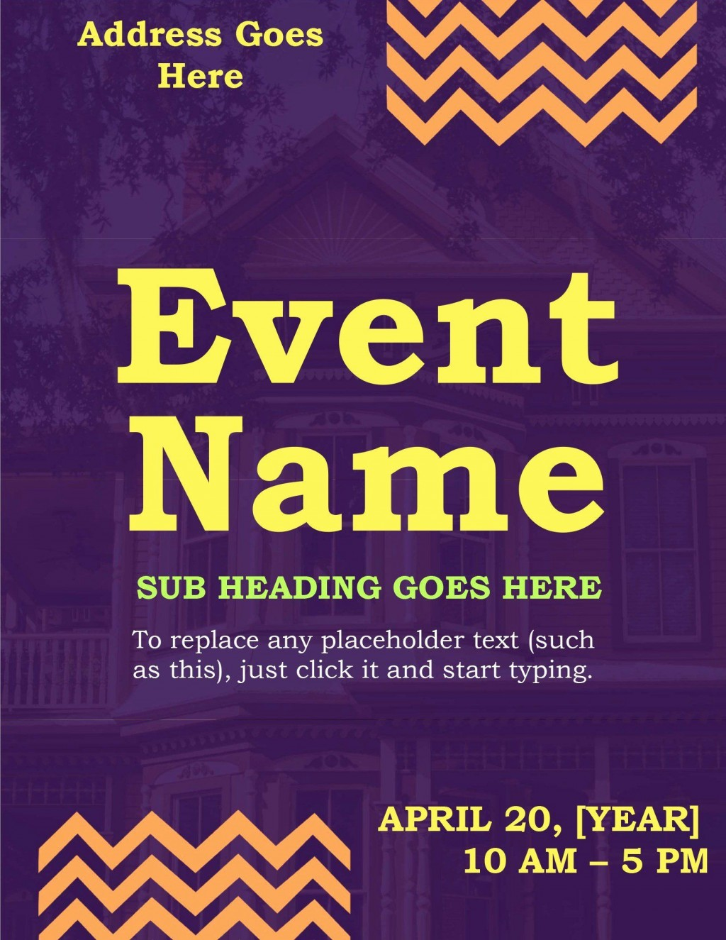 008 Imposing Event Flyer Template Word High Resolution  Free SpringLarge