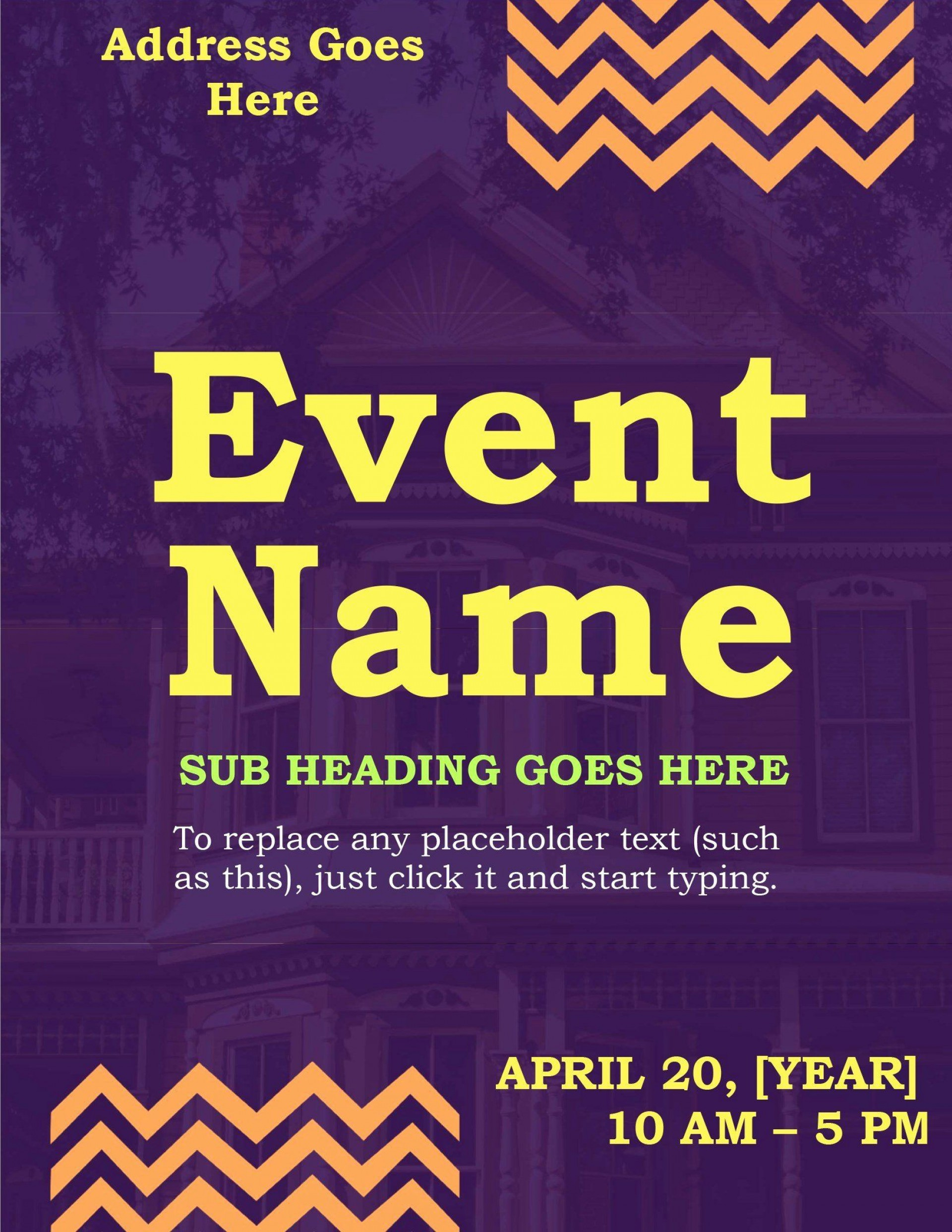 008 Imposing Event Flyer Template Word High Resolution  Free Spring1920
