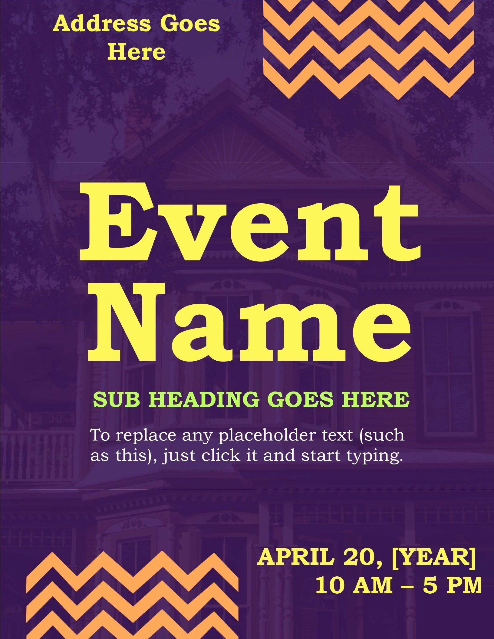008 Imposing Event Flyer Template Word High Resolution  Free SpringFull
