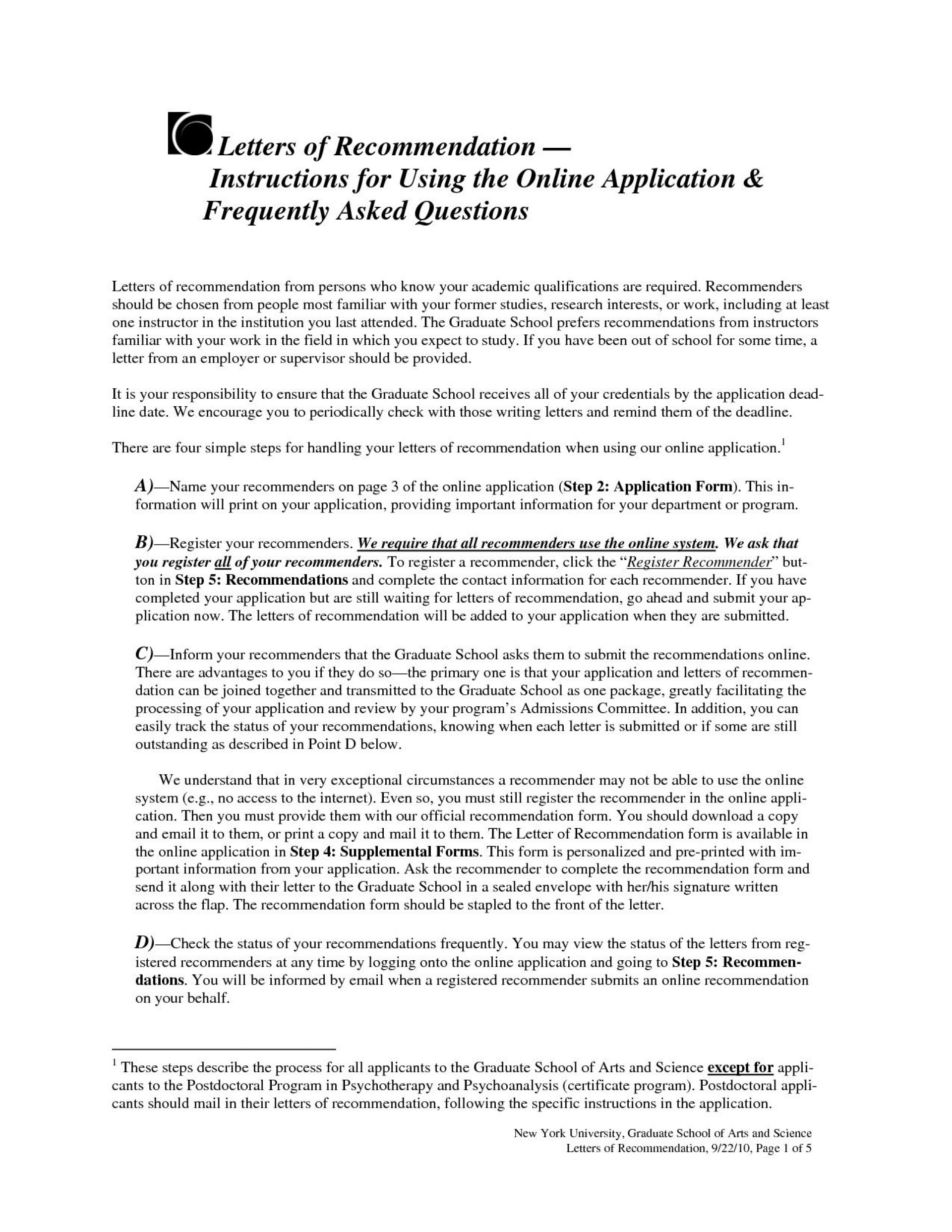 008 Imposing Example Of Letter Recommendation For Graduate School From Employer Inspiration  Sample Pdf Grad1920