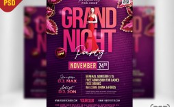 008 Imposing Free Party Flyer Template For Photoshop Example  Pool Psd Download
