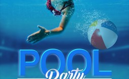 008 Imposing Free Pool Party Flyer Template Psd Example  Photoshop