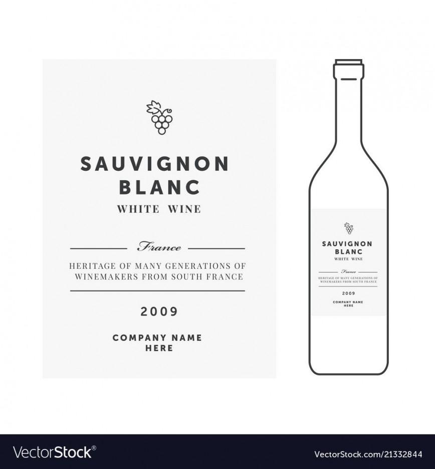 008 Imposing Free Wine Label Template Idea  Psd Mini Bottle