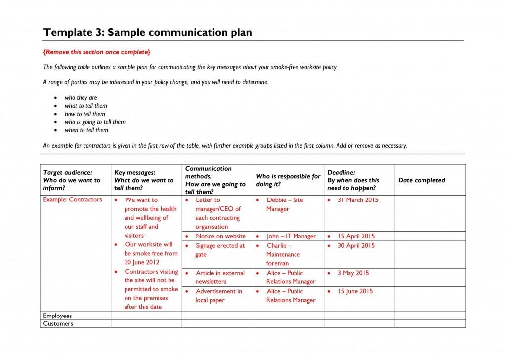 008 Imposing Internal Communication Plan Template Picture  Free Pdf ExampleLarge