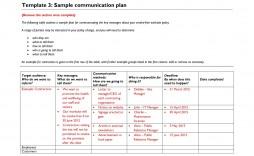 008 Imposing Internal Communication Plan Template Picture  Free Pdf Example