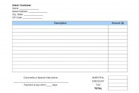008 Imposing Invoice Template Pdf Fillable Concept  Commercial