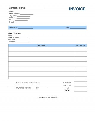 008 Imposing Invoice Template Pdf Fillable Concept  Commercial320