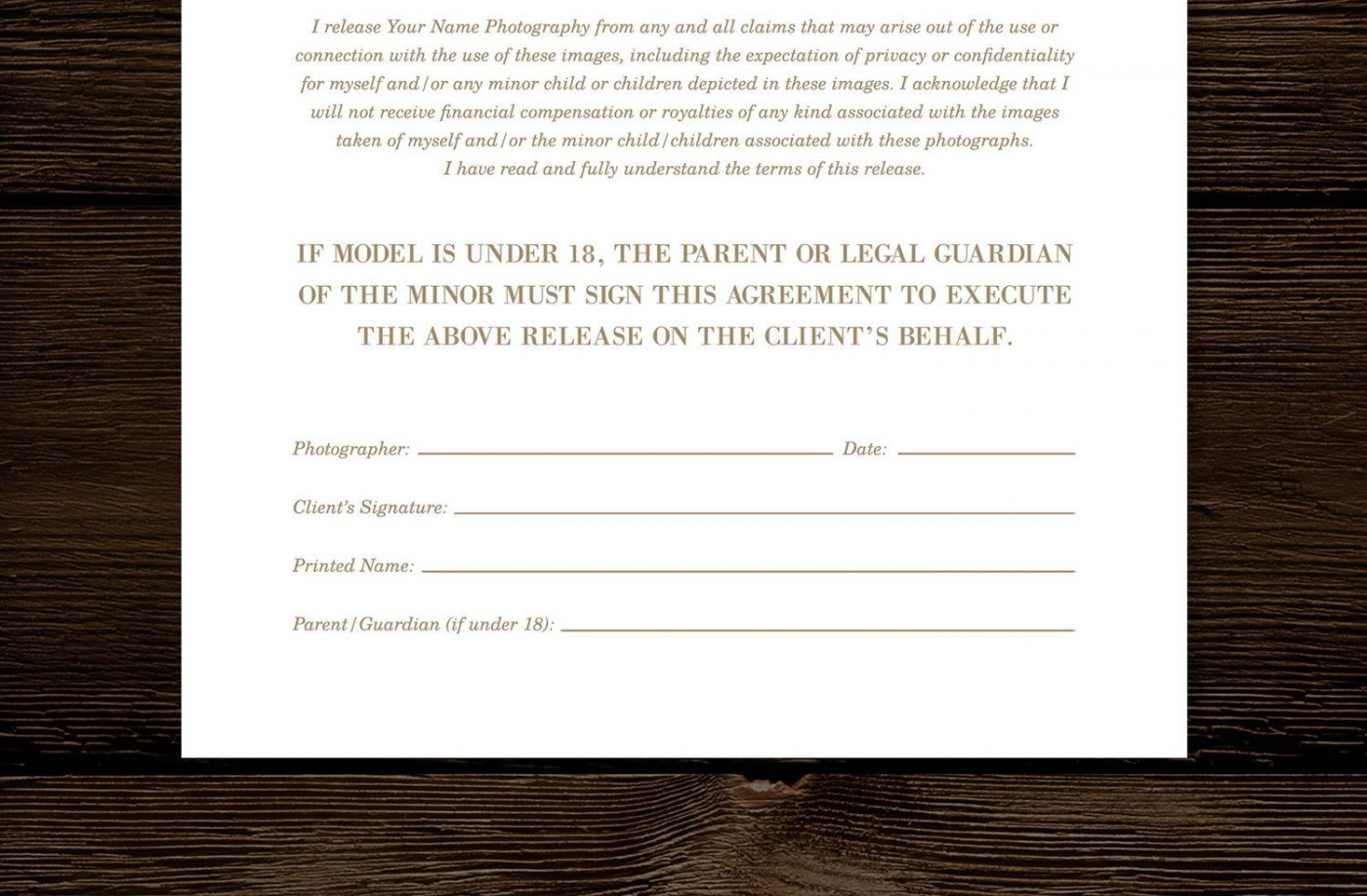008 Imposing Model Release Form Template High Def  Photographer Gdpr Simple1400