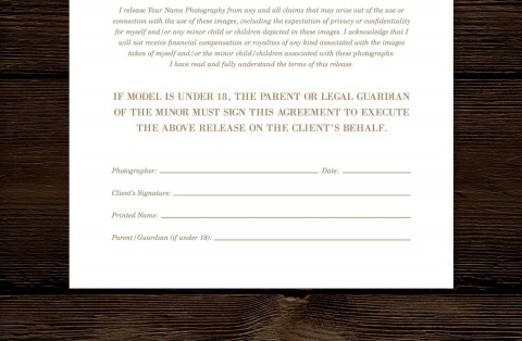 008 Imposing Model Release Form Template High Def  Photographer Gdpr Simple480