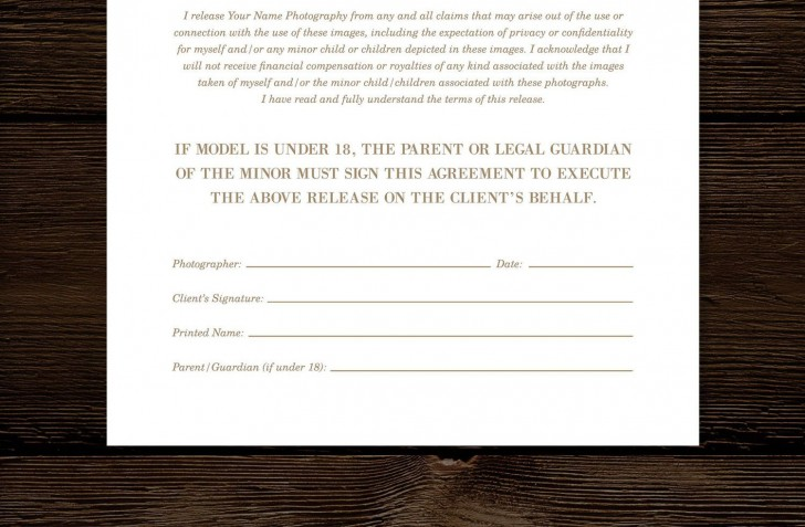 008 Imposing Model Release Form Template High Def  Photographer Gdpr Simple728
