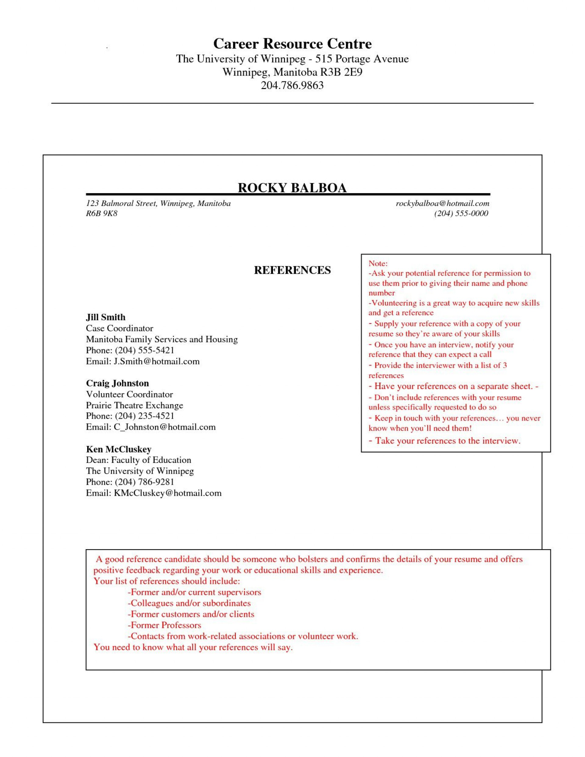 008 Imposing Professional Reference List Template Word High Def  Free1920