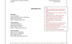 008 Imposing Professional Reference List Template Word High Def  Free