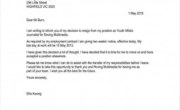008 Imposing Sample Resignation Letter Template Email Picture