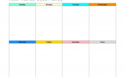 008 Imposing Weekly Schedule Template Pdf High Resolution  With Time Study Work
