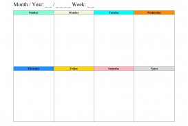 008 Imposing Weekly Schedule Template Pdf High Resolution  Employee Free Work Lesson Plan Format