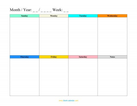 008 Imposing Weekly Schedule Template Pdf High Resolution  Employee Free Work Lesson Plan Format480