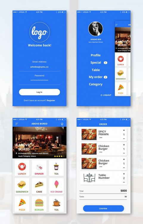 008 Impressive Android App Design Template High Def  Free Sketch Ui480