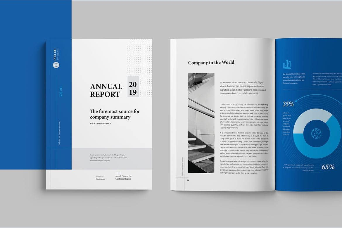008 Impressive Annual Report Design Template Example  Templates Word Timeles Free Download InFull