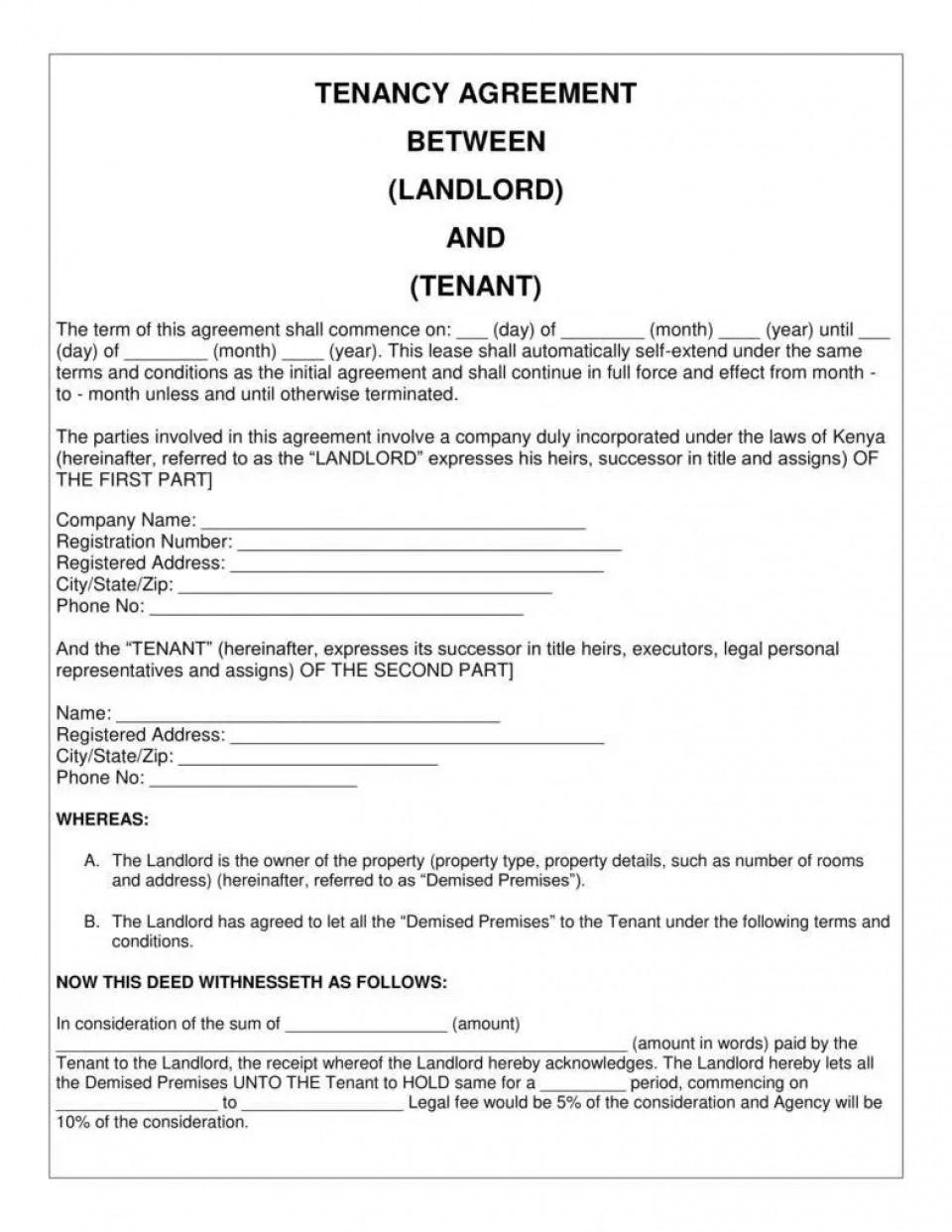 008 Impressive Basic Rental Agreement Template High Resolution  Simple Word Tenancy Free960