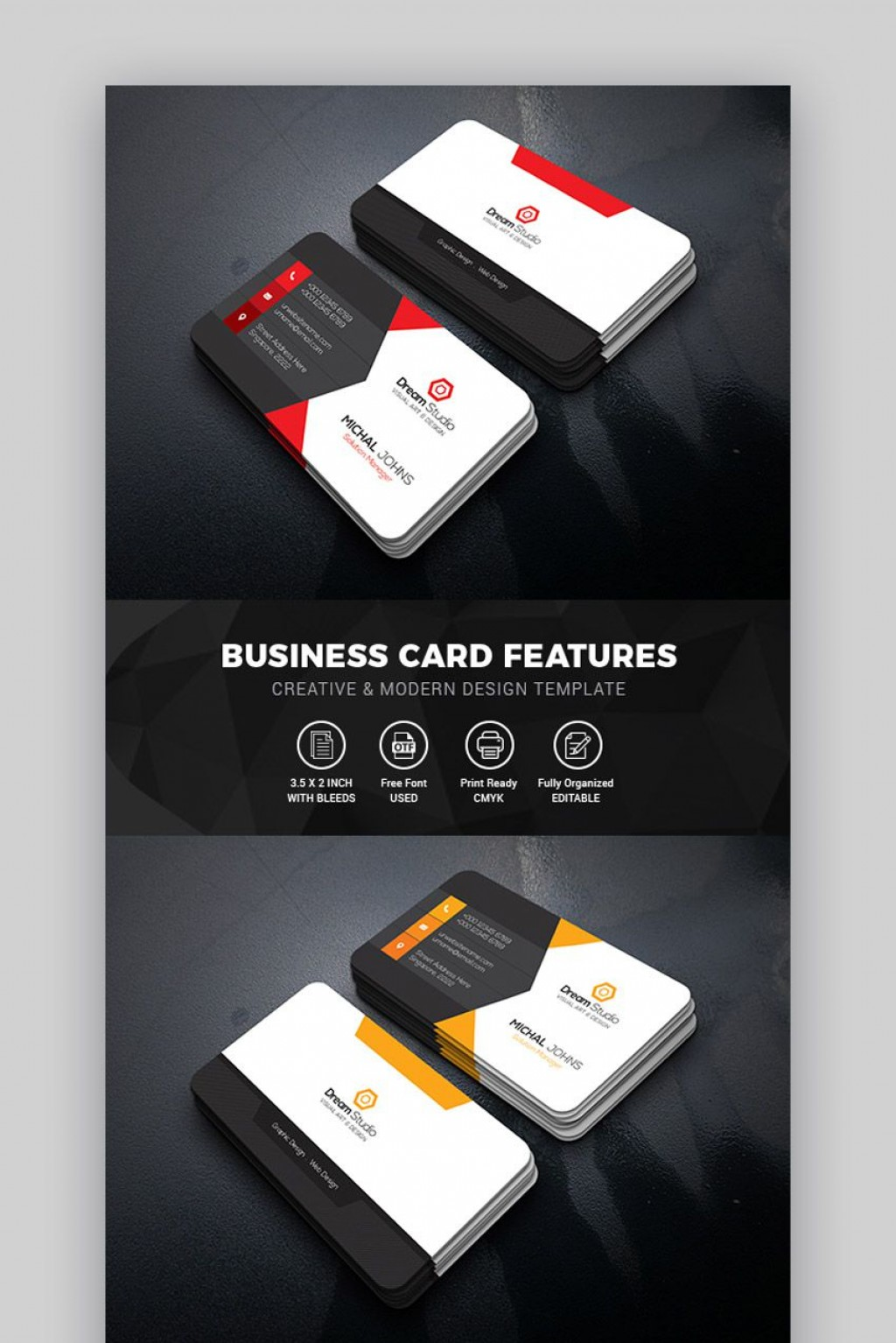 008 Impressive Blank Busines Card Template Psd Free Concept  Photoshop DownloadLarge