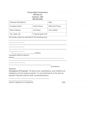 008 Impressive Construction Job Proposal Template Highest Quality  Example360