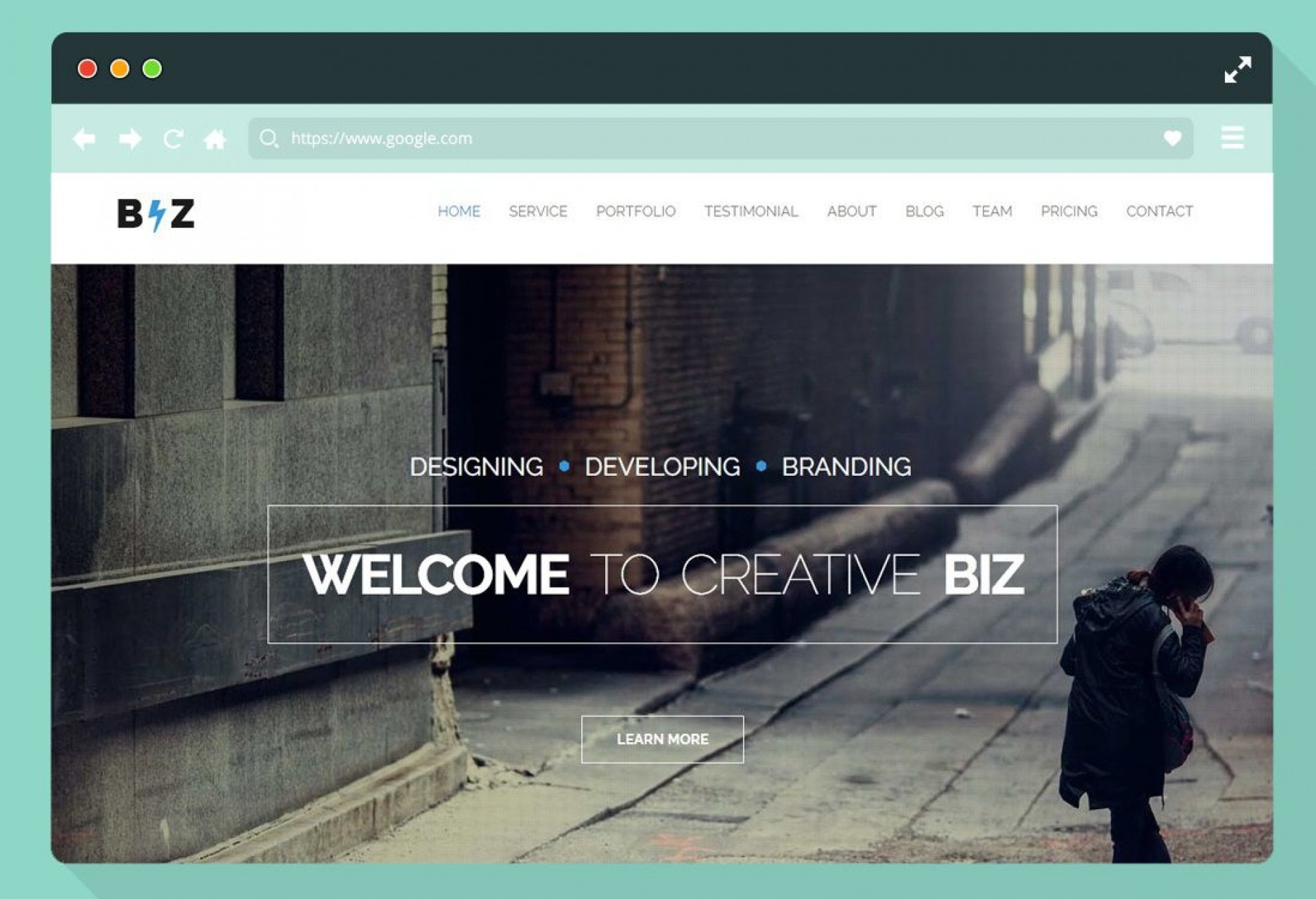 008 Impressive Creative One Page Website Template Free Download Image 1920