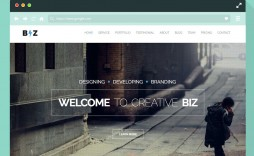 008 Impressive Creative One Page Website Template Free Download Image