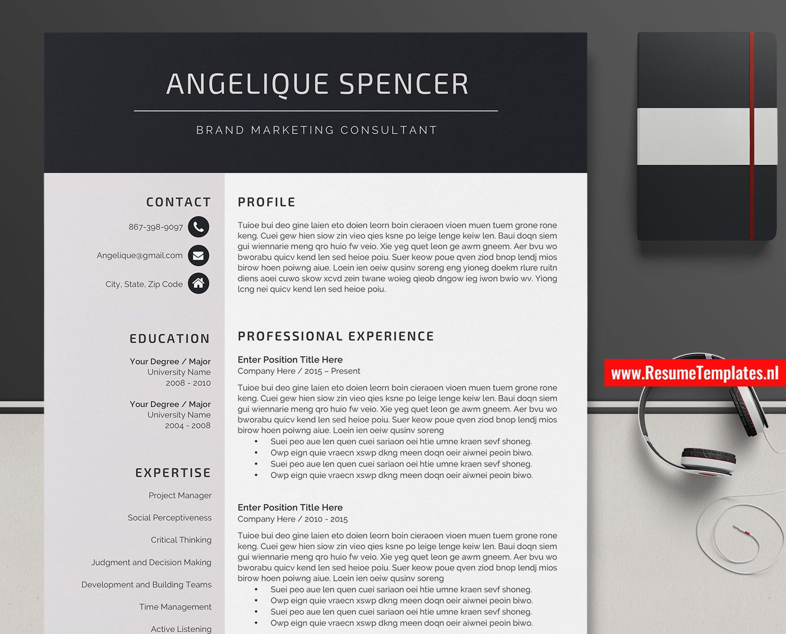 008 Impressive Creative Resume Template Word Highest Quality  Professional Free Download Example EditableFull