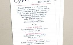 008 Impressive Cruise Wedding Welcome Letter Template Idea