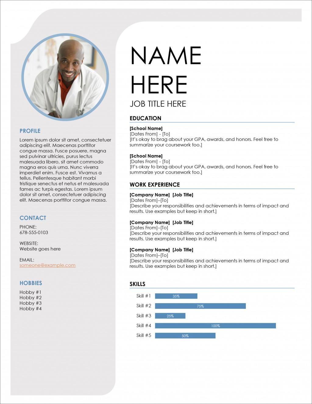 008 Impressive Cv Resume Word Template Free Download High Def  Curriculum VitaeLarge