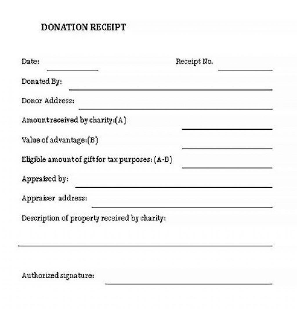 008 Impressive Donation Receipt Template Word High Def  Free Microsoft CharitableLarge