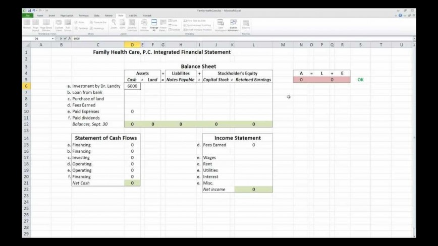 008 Impressive Financial Statement Template Excel Image  Personal Example Interim Free Download868