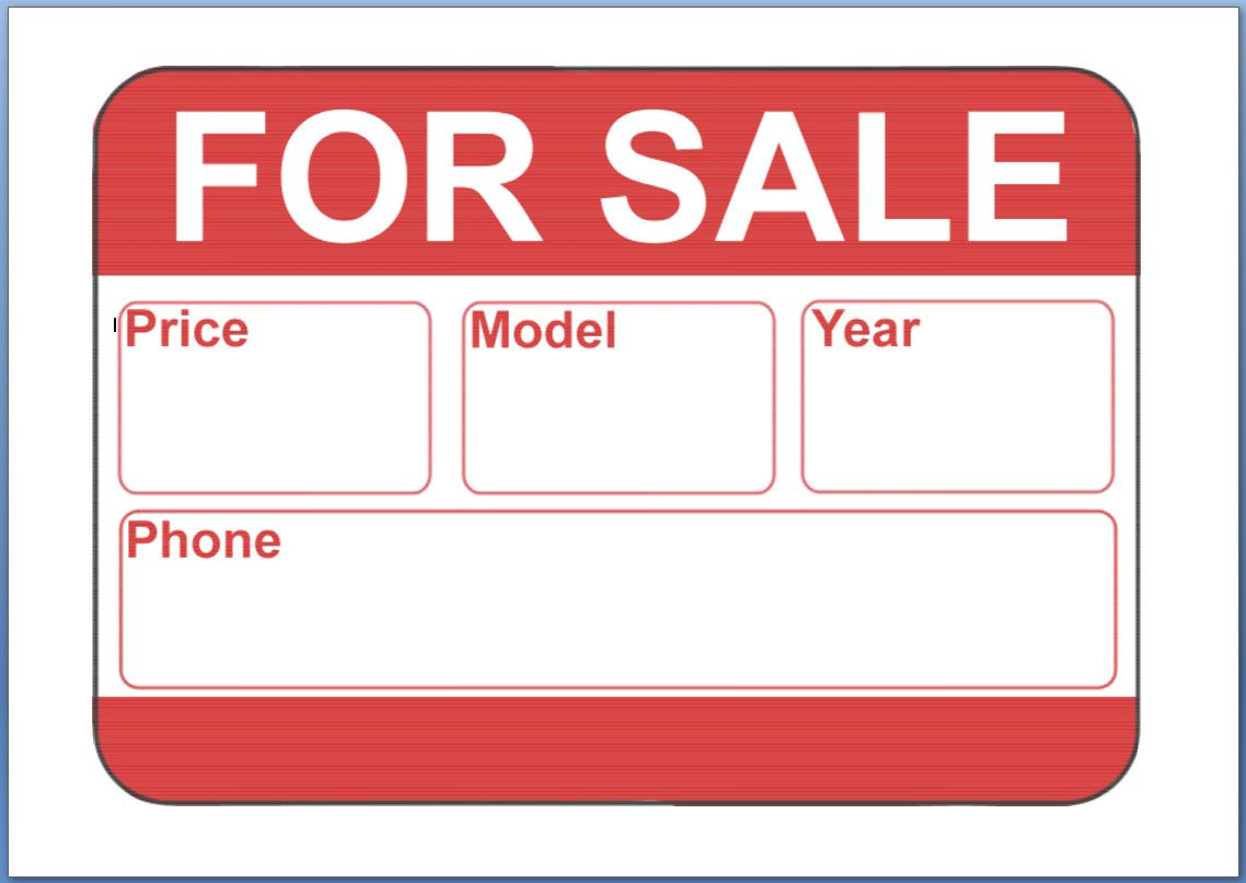 008 Impressive For Sale Template Word Idea  By Owner Flyer Microsoft House Bill Of DownloadFull