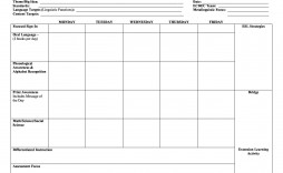 008 Impressive Free Editable Weekly Lesson Plan Template Pdf Example  Blank